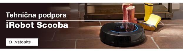 Banner technična podpora iRobot Scooba