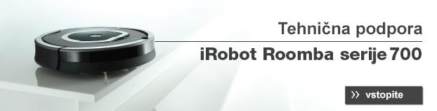 Banner technična podpora iRobot Roomba 700