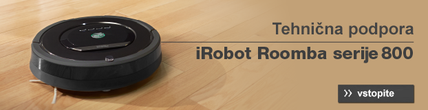 Banner technična podpora iRobot Roomba